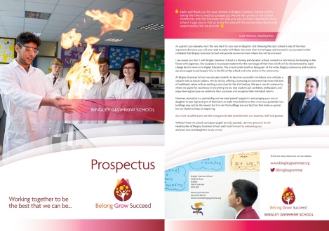 Prospectus front and back cover
