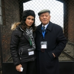 Arek and Miss Shah in Auschwitz a