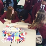 Students casting votes
