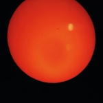 Mercury in transit through the lens