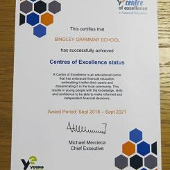 Centre of Excellence Certificate web