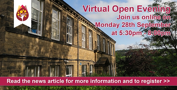 Open Evening advert pop up